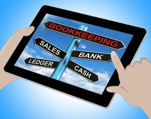 Bookkeeping Tablet Meaning Sales Ledger Bank And Cash